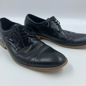 Stacy Adams Mens 11 black Oxfords Loafers Shoes